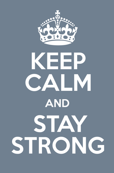 Manten la calma y mantente fuerte - Keep calmd and stay strong