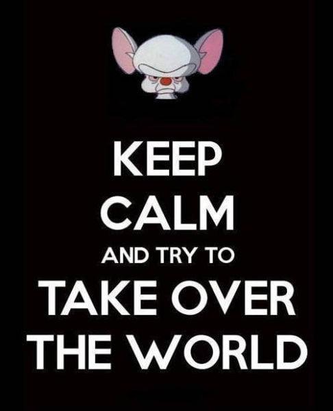 Manten la calma y trata de conquistar al mundo