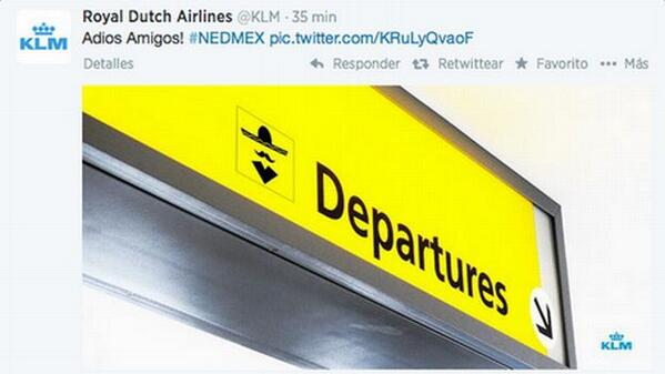 Royal Dutch Airlines burla mexico