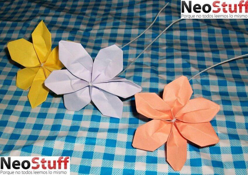 Flores de papel bond