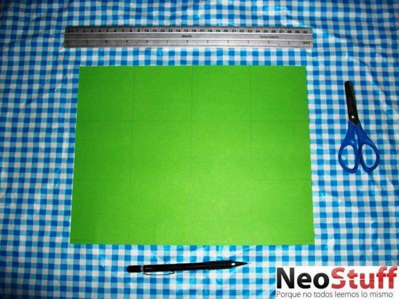 3.divisiones de papel