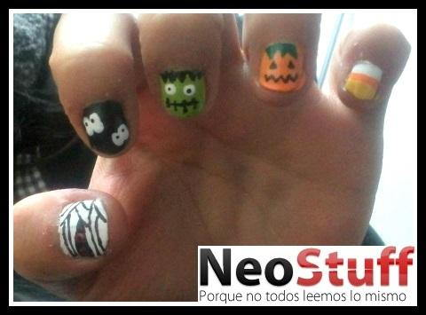 5 diferentes Nail art para halloween