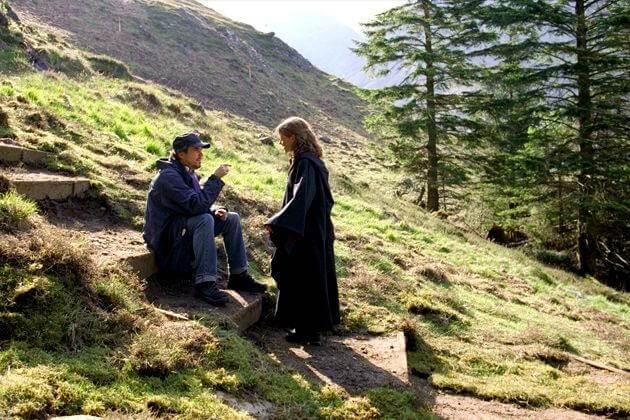 Alfonso Y Emma Watson en el set de HP: El prisionero de Azkaban