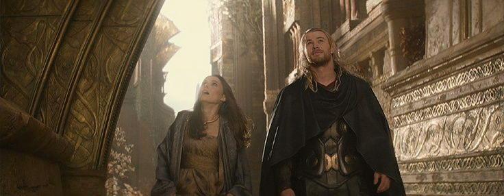 Foster y Thor en Asgard