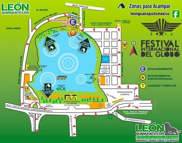 zonas para acampar en el festival del globo León