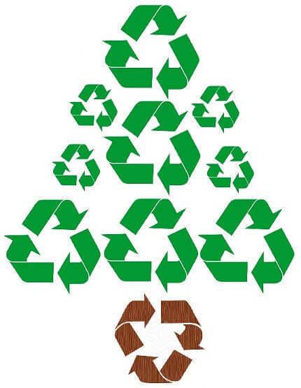 árbol reciclado Rentar un árbol navideño