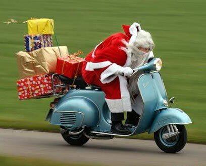 santa y regalos de navidad