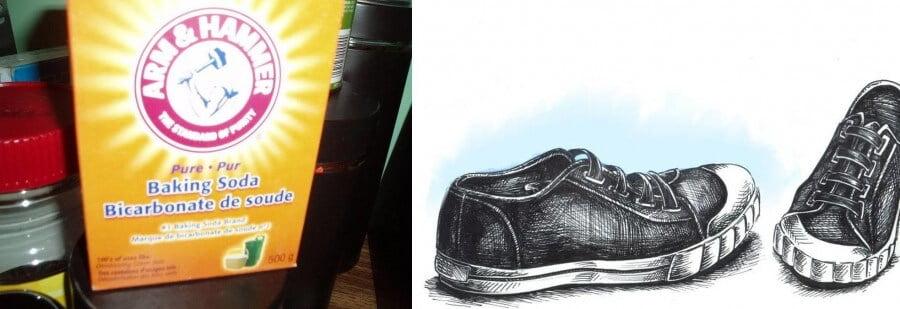 zapatos y bicarbonato