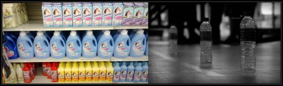 suavizante y botella