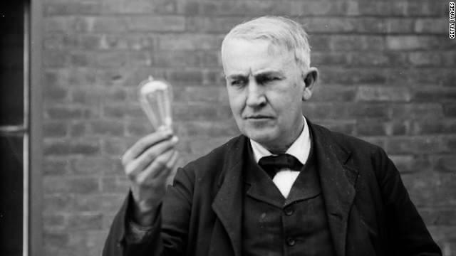 Thomas Alva Edison bombilla