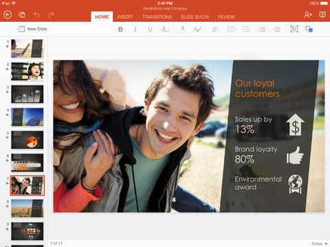 Microsoft power point para iPad