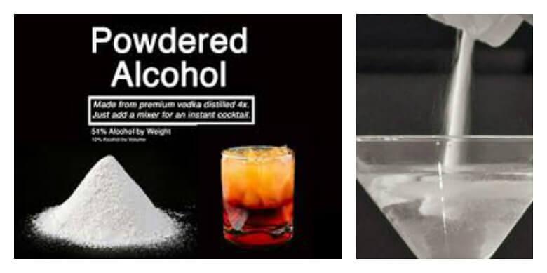 Bebida con alcohol en polvo