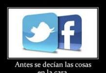Indirectas en Twitter y Facebook