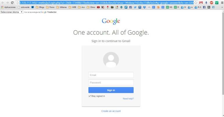 robar contraseña gmail