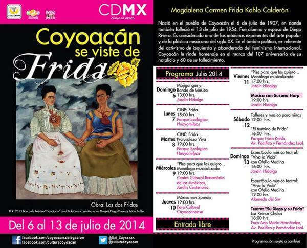 Frida kahlo calendario