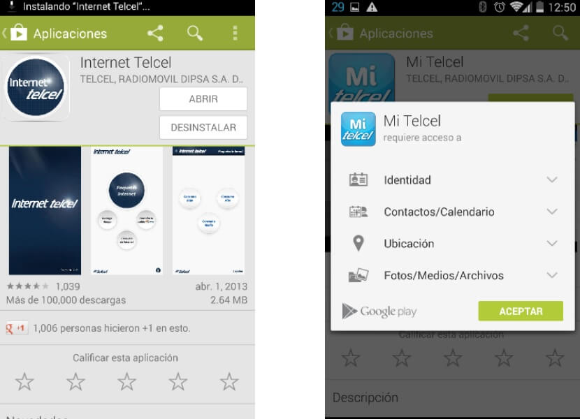 Internet telcel Mi telcel App Android
