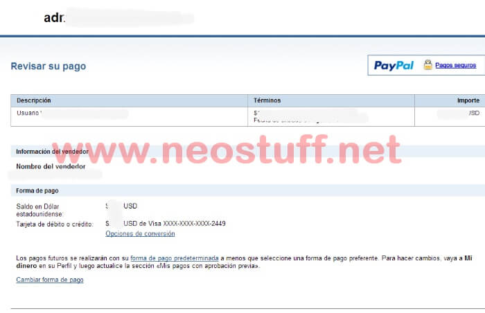 solución al pagar con paypal