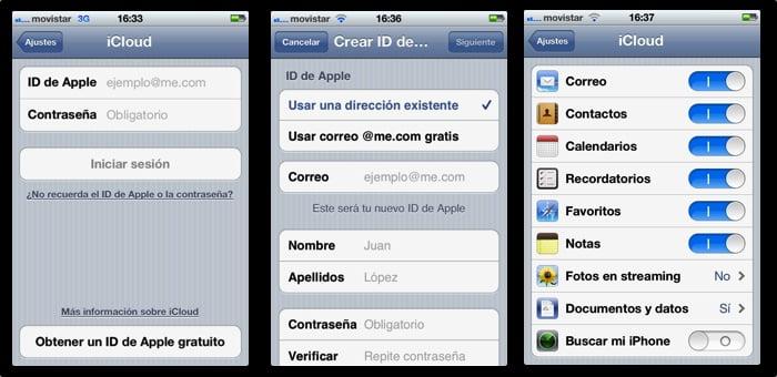 sincronizar contactos icloud iphone