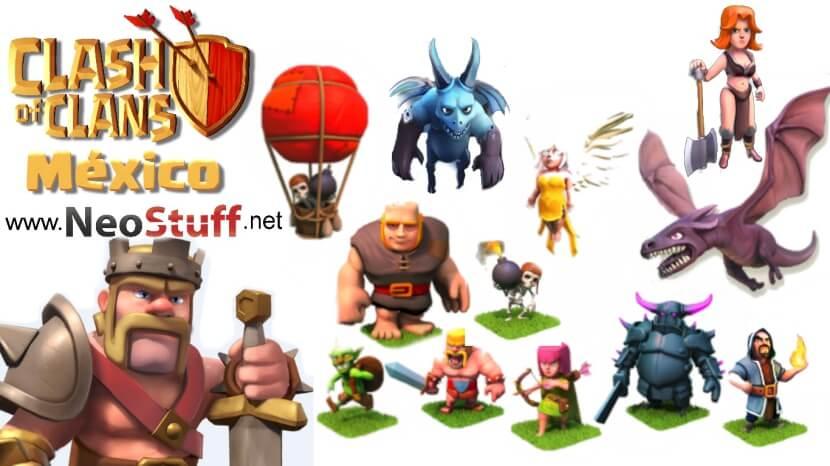 clash of clans méxico personajes