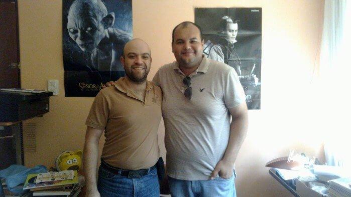 Nuestro colaborador con Darío Rebollar, director del CC K'a Óolal