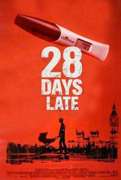 Parodia de la película 28 días tarde