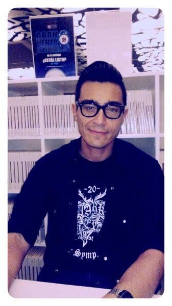 Tryno Maldonado en la Librería Rosario Castellanos. Octubre 2014.