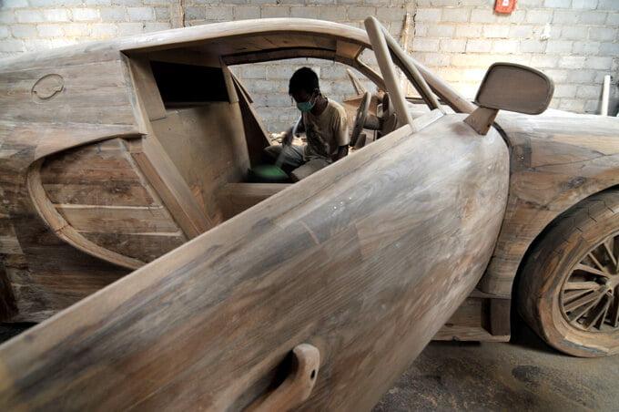 bugatti veyron de madera