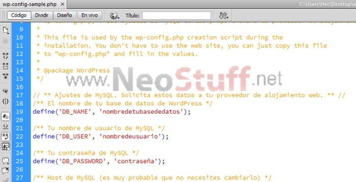editar wp config instalar wordpres ispconfig