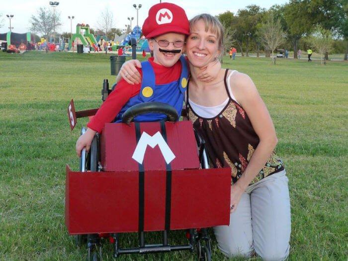 halloween en silla de ruedas mario kart