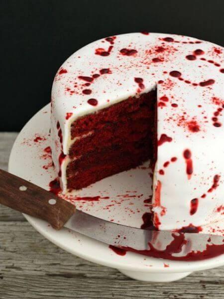 halloween pastel de sangre