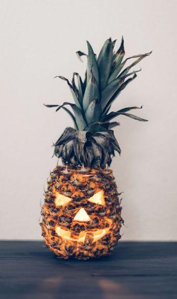 halloween piña calabaza