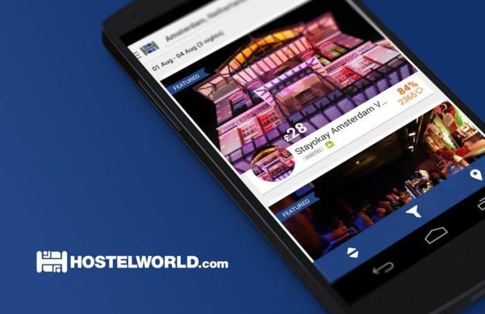 hostelworld android encontrar hoteles