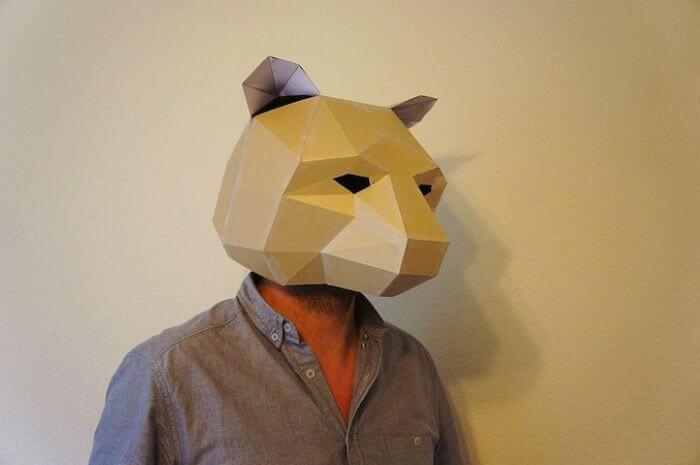 mascara de wintercroft de un oso