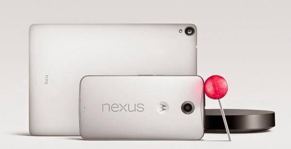 nexus 9, nexus 6 y nexus player