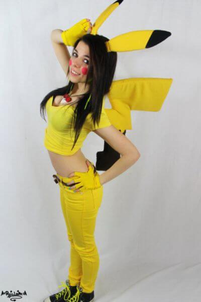 pikachu girl disfraz halloween