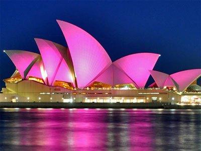 Sydney opera hoyse rosa cancer de mama