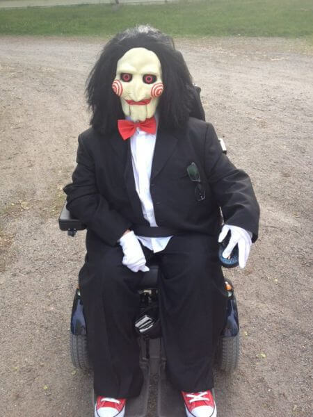 wheelchair costum halloween saw