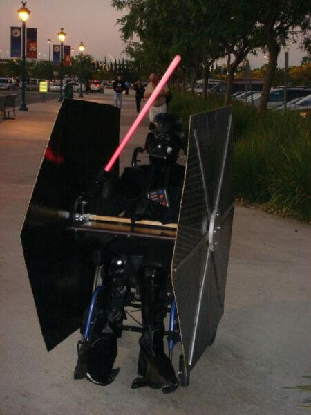 wheelchair/ halloween darth bader