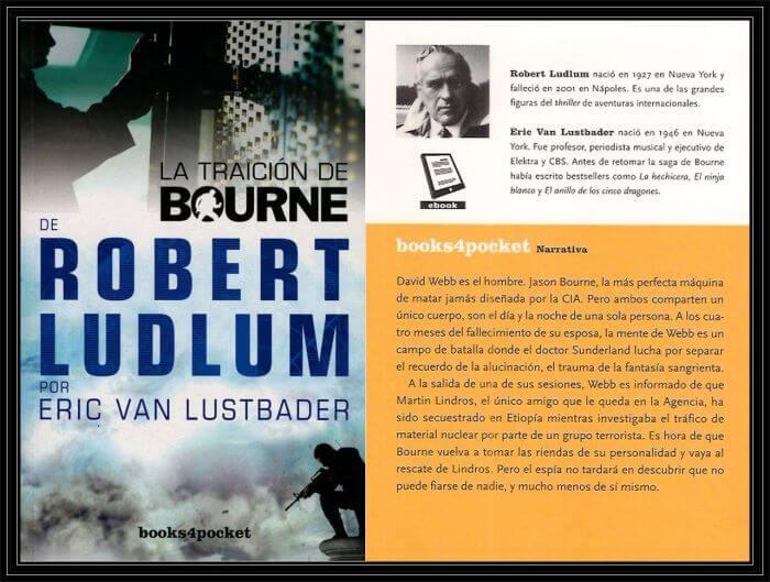 La Traición de Bourne Portada y Contraportada.