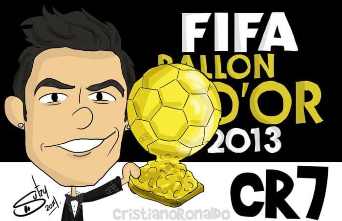 cristiano ronaldo cartoon dibujo