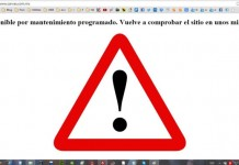 no disponible por mantenimiento programado wordpress