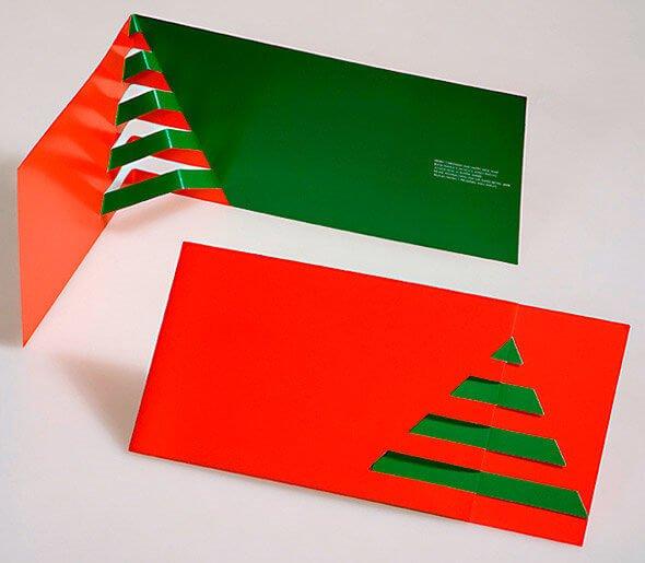 tarjeta navideña minimalista