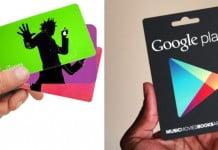 Códigos. tarjetas y copones Google play y Itunes store gratis