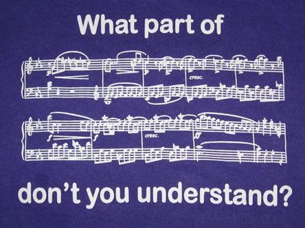 ¿Qué parte de la música académica no entiendes?
