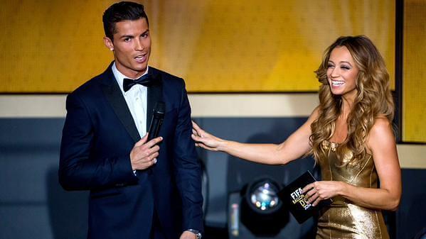 Cristiano Ronaldo y Kate Abdo - Balón de oro