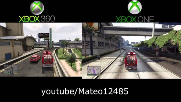 gráficas gta v xbox one vs 360