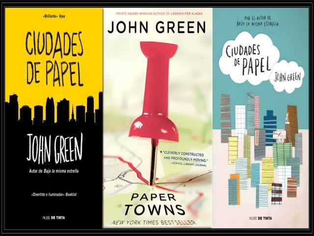 Portadas Representativas Ciudades de Papel,del autor John Green