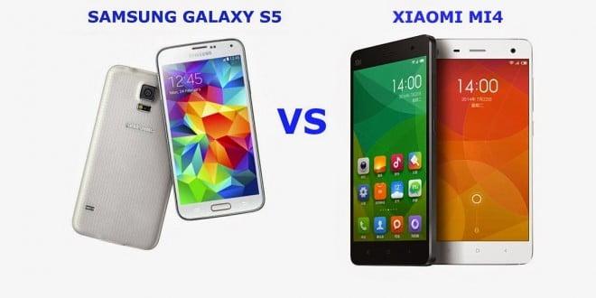 samsung galaxy s5 vs xiaomi mi4