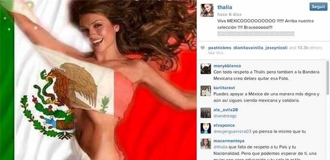 Thalia cuenta de Instagram