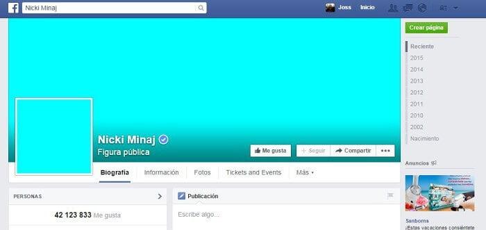 Facebook Nicki Minaj